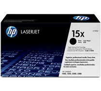 HP 15X (C7115X) Black High Yield Original LaserJet Toner