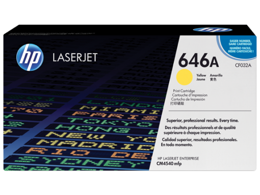 HP 646A Yellow Original LaserJet Toner Cartridge
