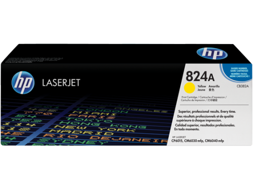 HP 824A Yellow Original LaserJet Toner Cartridge, CB382A