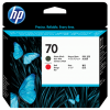 HP 70 Matte Black and Red Printhead C9409A