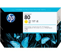 HP 80 175-ml Yellow Ink Cartridge C4873A
