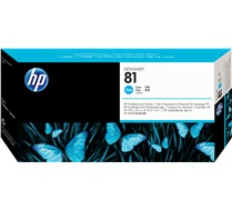 HP 81 Cyan Pinthead and Cleaner C4951A