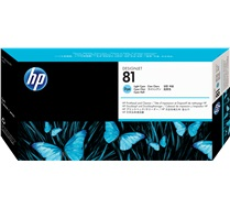 HP 81 Light Cyan Pinthead and Cleaner C4954A