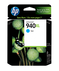 HP 940XL High Yield Cyan Ink Cartridge C4907AN