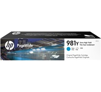 HP 981Y Cyan PageWide Ink Cartridge L0R13A