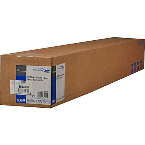 Epson Semimatte Proofing Paper 44″x100′ Roll S042006