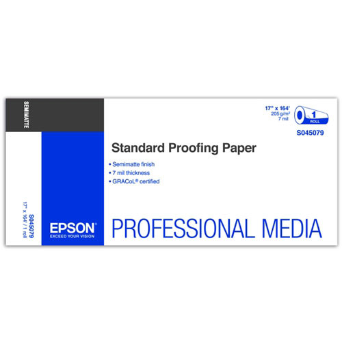 Epson Standard Proofing Paper 205 17″x164′ S045079