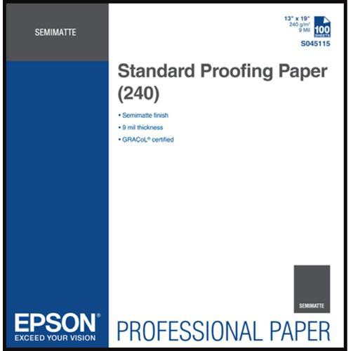 Epson Standard Proofing Paper 240 13″x19″ S045115
