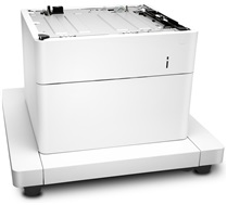 HP LaserJet 1x550-sheet paper feeder with stand and cabinet J8J91A