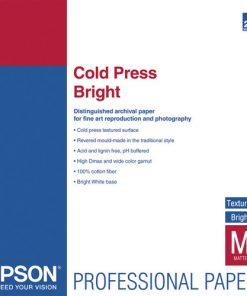Epson Cold Press Bright Paper 17″x22″ S042311