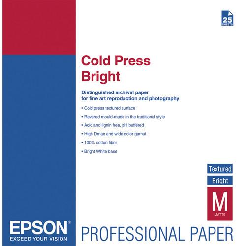 Epson Cold Press Bright Paper 17″x22″ S042311