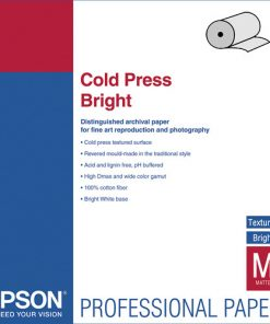 Epson Cold Press Bright Paper 17″x50' Roll S042313