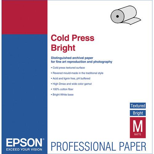 Epson Cold Press Bright Paper 17″x50' Roll S042313