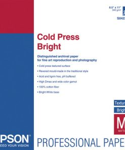 Epson Cold Press Bright Paper 8.5″x11″ S042307