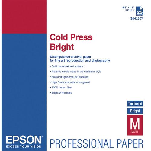Epson Cold Press Bright Paper 8.5″x11″ S042307