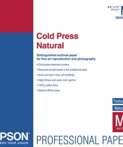 Epson Cold Press Natural 8.5″ x 11″ S042297