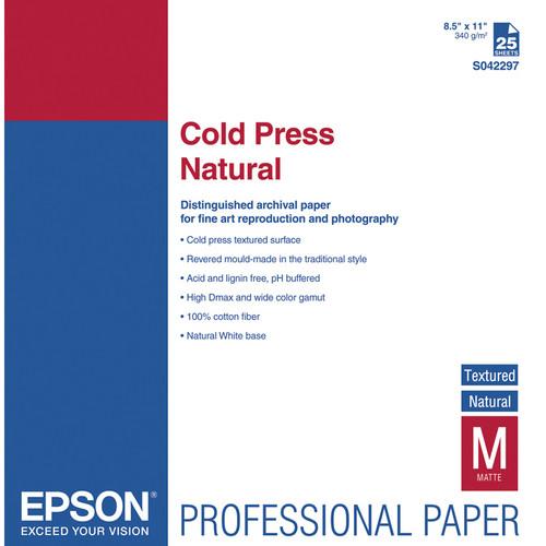 Epson Cold Press Natural 8.5″ x 11″ S042297