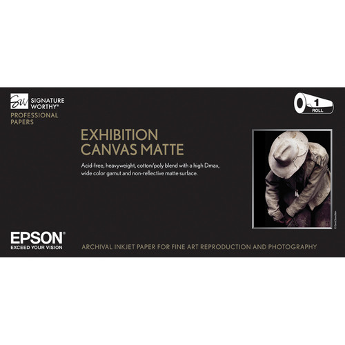 "Epson Exhibition Canvas Matte Paper 13""x20′ S045255"