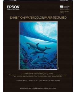 "Epson Exhibition Watercolor Paper Textured 8.5""x11"" S045486"