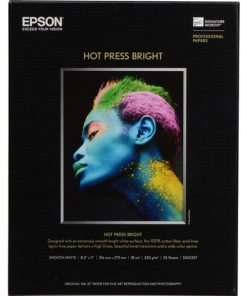 Epson Hot Press Bright Paper 8.5″x11″ S042327