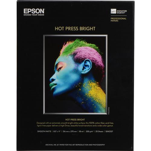 Epson Hot Press Bright Paper 8.5″x11″ S042327