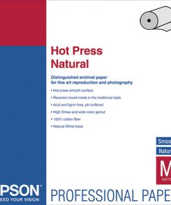 "Epson Hot Press Natural Paper 17""x50' Roll S042323"