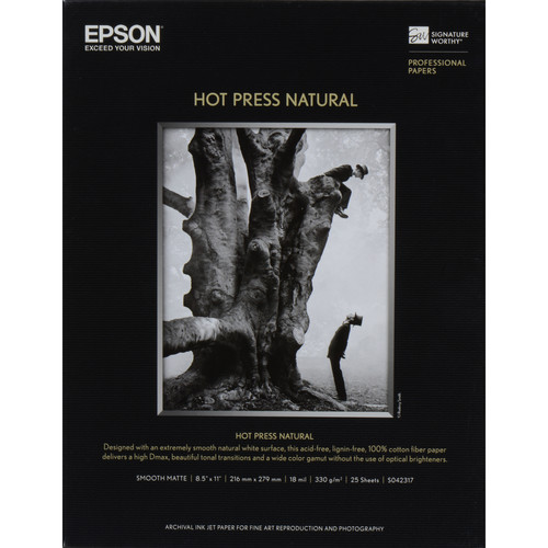 "Epson Hot Press Natural Paper 8.5""x11"" S042317"