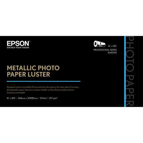 Epson Metallic Luster Photo Paper 16inx100ft S045592