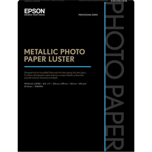 Epson Metallic Luster Photo Paper 8.5inx11in S045596