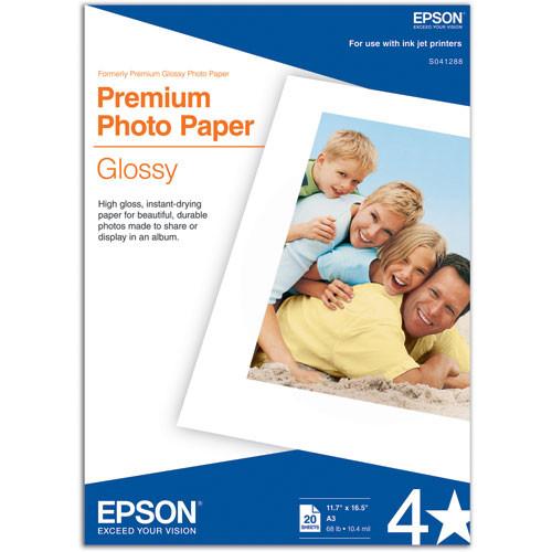 Epson Premium Glossy photo paper 11.7in x 16.in S041288