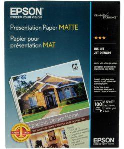 Epson Presentation Matte paper 8.5″x11″ S041062