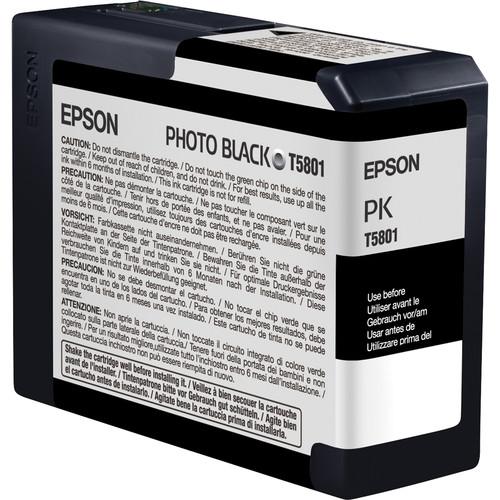 Epson T580100 Photo Black UltraChrome K3 Ink Cartridge