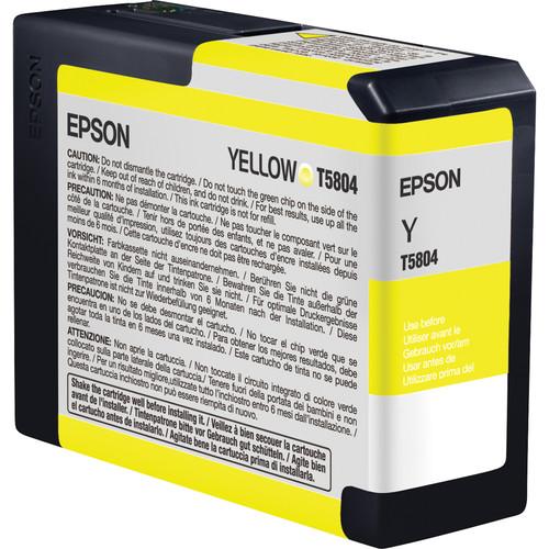 Epson T580400 Yellow UltraChrome K3 Ink Cartridge