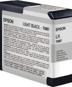 Epson T580700 Light Black UltraChrome K3 Ink Cartridge