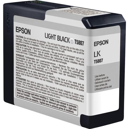 Epson T580700 Light Black UltraChrome K3 Ink Cartridge