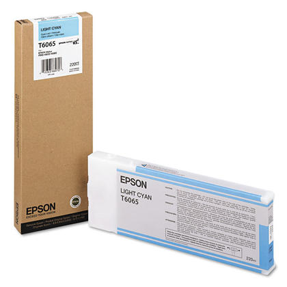 Epson T6065 Light Cyan UltraChrome Ink Cartridge