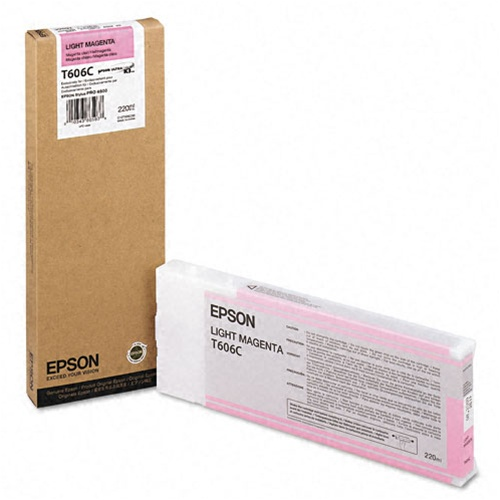 Epson T606C Light Magenta UltraChrome Ink Cartridge