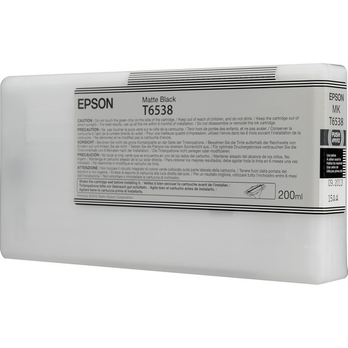 Epson T6538 Matte Black Ultrachrome Ink Cartridge