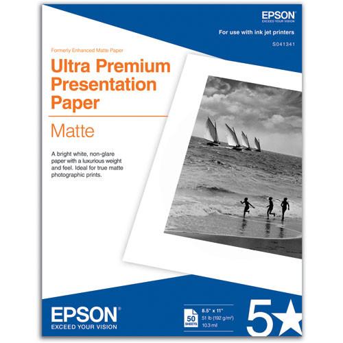 Epson Ultra Premium Presentation Matte Paper 8.5″x11″ S041341