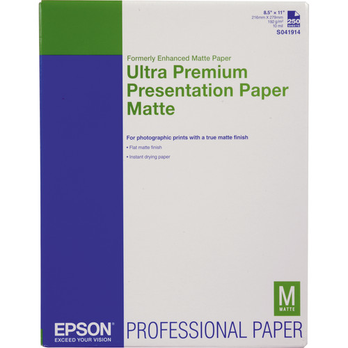 Epson Ultra Premium Presentation Matte Paper 8.5″x11″ S041914