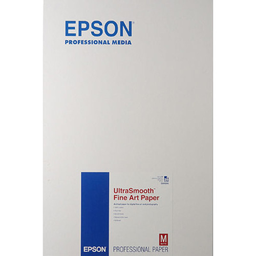 """Epson Ultra Smooth Fine Art Paper 325 gsm 13""""x19"""" S041896"""