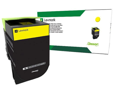 Lexmark 701HY Yellow High Yield Return Program Toner 70C1HY0