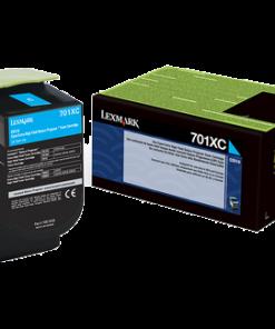 Lexmark 701XC Cyan Extra High Yield Return Program Toner 70C1XC0