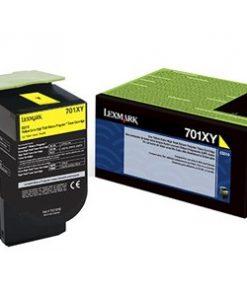 Lexmark 701XY Yellow Extra High Yield Return Program Toner 70C1XY0