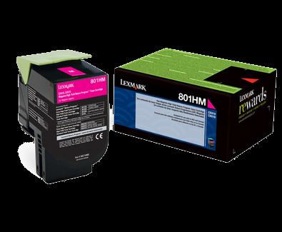 Lexmark 801HC Magenta High Yield Return Program Toner 80C1HM0