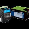 Lexmark 801HK Cyan High Yield Return Program Toner 80C1HC0