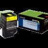 Lexmark 801HY Yellow High Yield Return Program Toner 80C1HY0