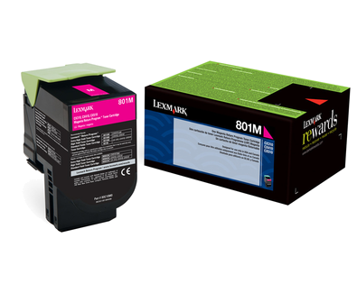 Lexmark 801M Magenta Return Program Toner 80C10M0