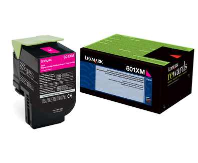 Lexmark 801XM Magenta Extra High Yield Return Program Toner 80C1XM0