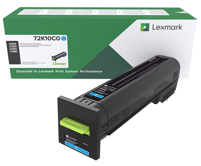 Lexmark CS820 CX82x CX860 Cyan Return Program Toner 72K10C0
